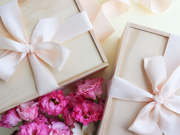 Wooden bridesmaid boxes made in NZ