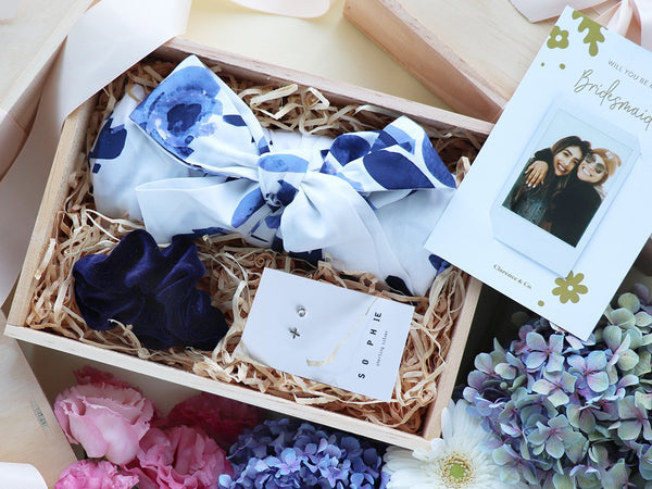 Bridesmaid wedding day gift boxes NZ