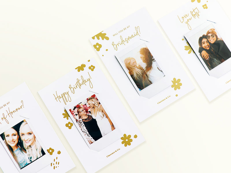 Personalised gift box - Instax photo card - be my bridesmaid - happy birthday box