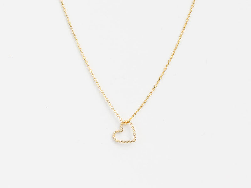 Stella + Gemma Heart Necklace Gold