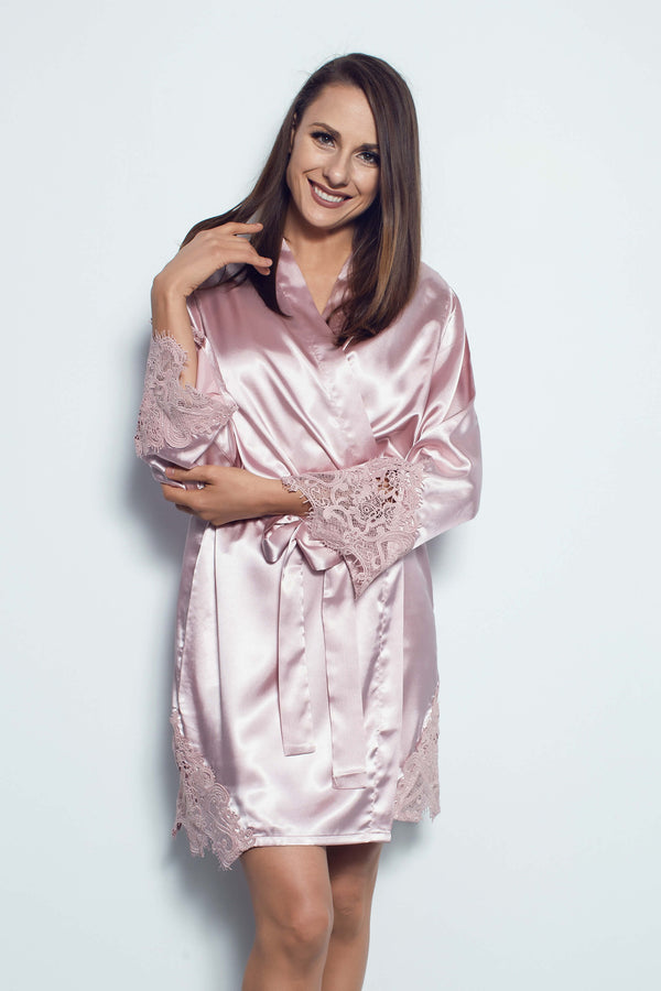 Silky bridesmaid robes NZ