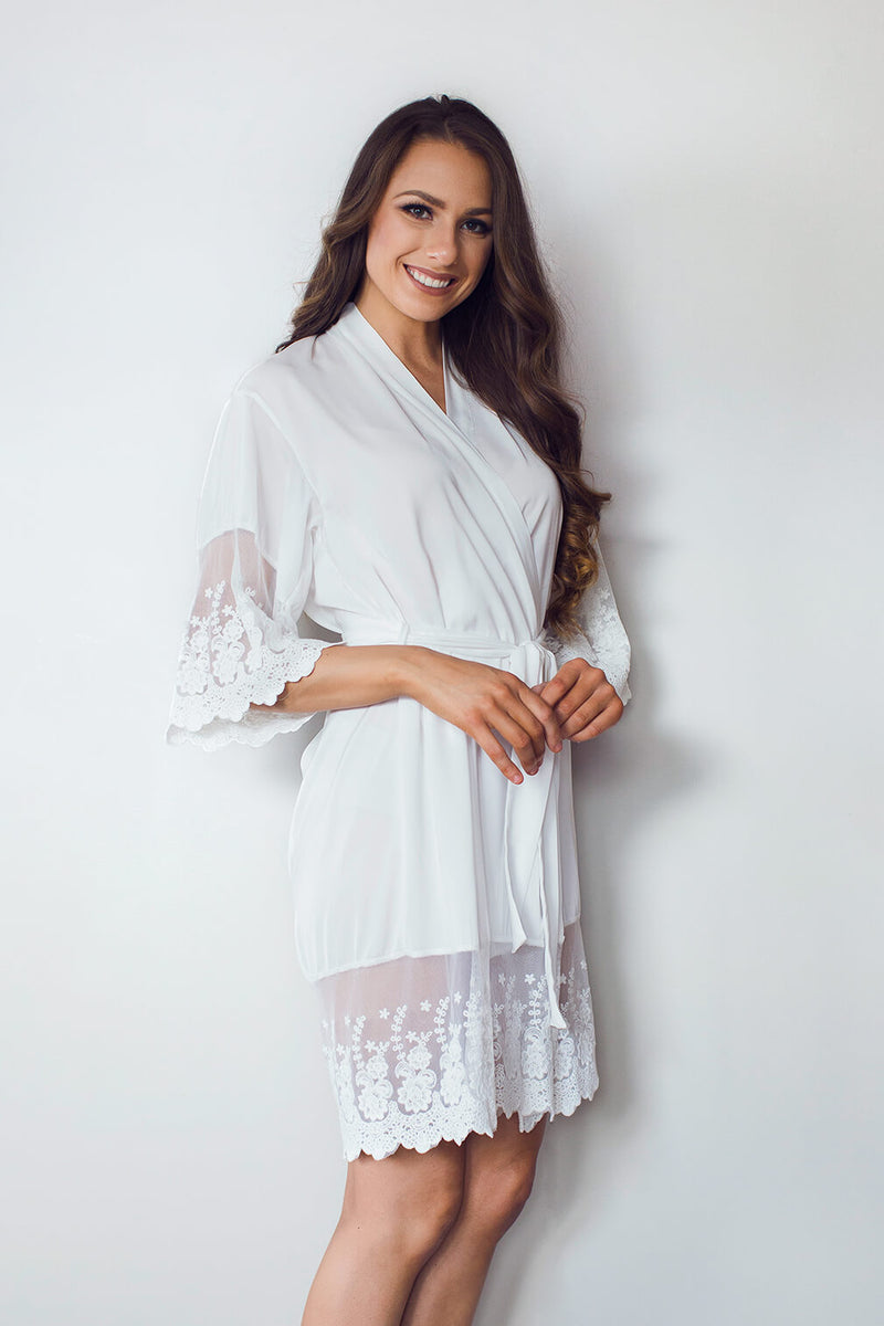 White bridal robe NZ