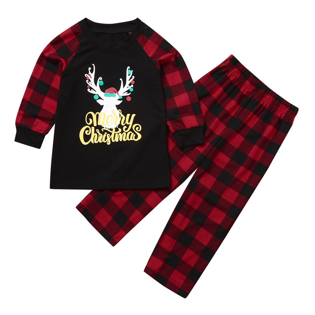 1 6 Years baby clothing New style Toddler Baby Kids Girls Boys Deer Tops Pants