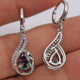 1 Pair Dangle Topaz All Match Lady Diamond Jewelry Earrings