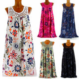 New Stylish Women Summer Round Neck Sleeveless  Dress
