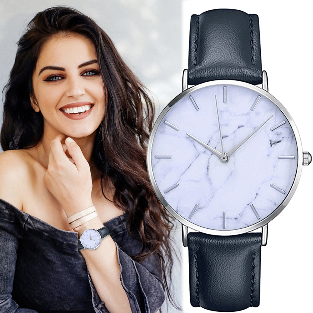 Women's Simple Stylish Marble Dial Watch