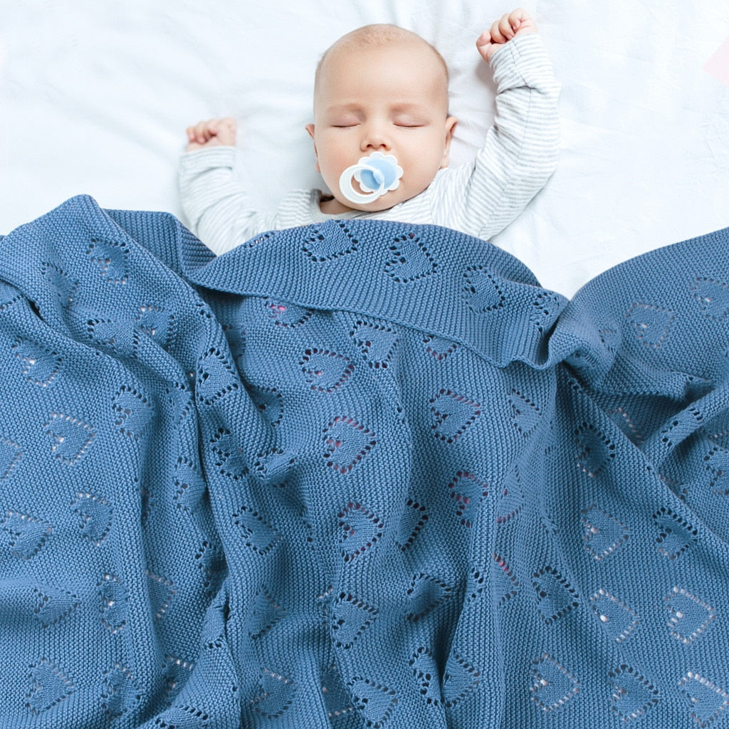Baby Knitted Swaddle Wrap Soft Toddler Sofa Crib Blankets