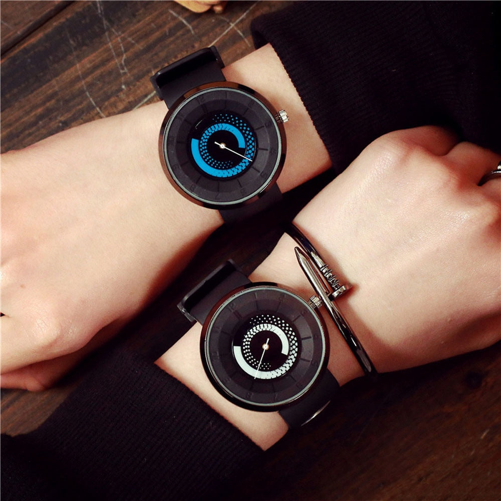 Unisex Fashion Lovers Silicone Band Watch