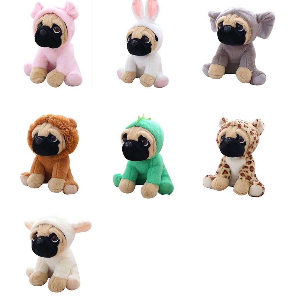 20CM Stuffed Simulation Dogs Plush Sharpei Pug Lovely Puppy Pet Toy