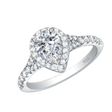 Pear Shape 925 Sterling Silver Wedding Engagement Ring For Women