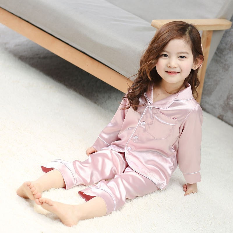 2pcs Girls Kids Sleepwear