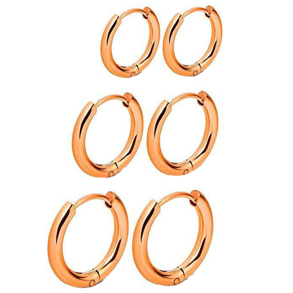 3 pairs of retractable earrings
