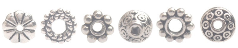 300PCS Antiqued Silver Metal Bali Daisy Spacer Beads for Jewelry