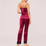 3pcs Satin Pajamas Sets