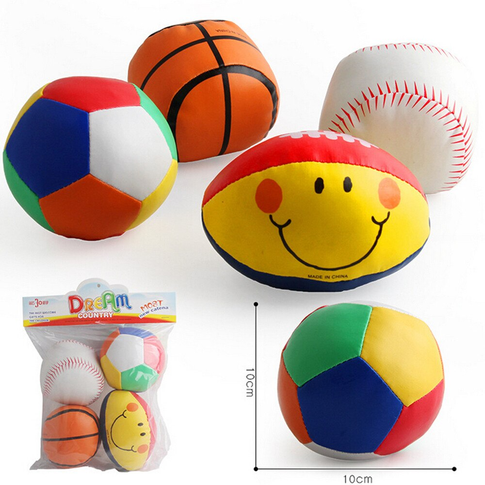 Soft Ball Football smiling Rugby Squeezed Puppet Grab Baby toys