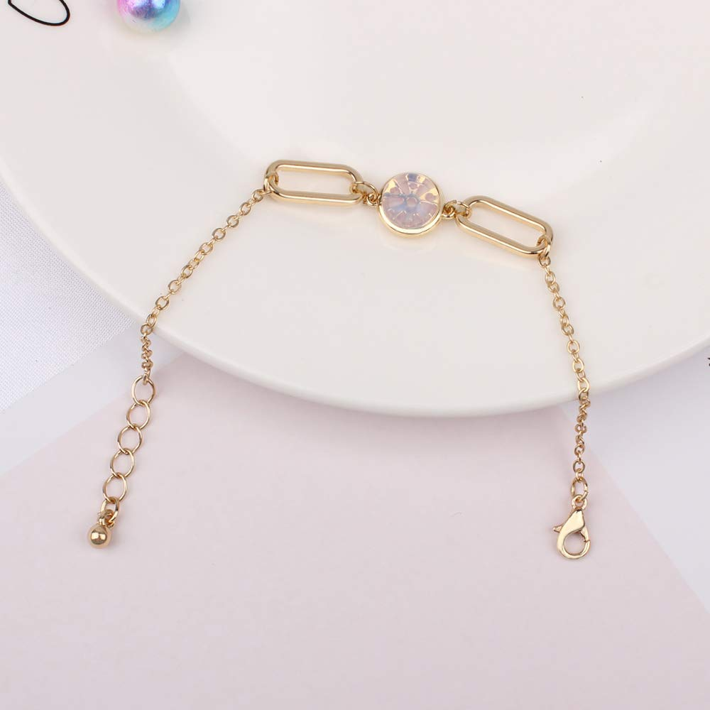 2 Pack Gold Bracelets Charms with Beads Wrap Bangles Set