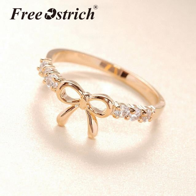 Austria Crystal finger Bow ring