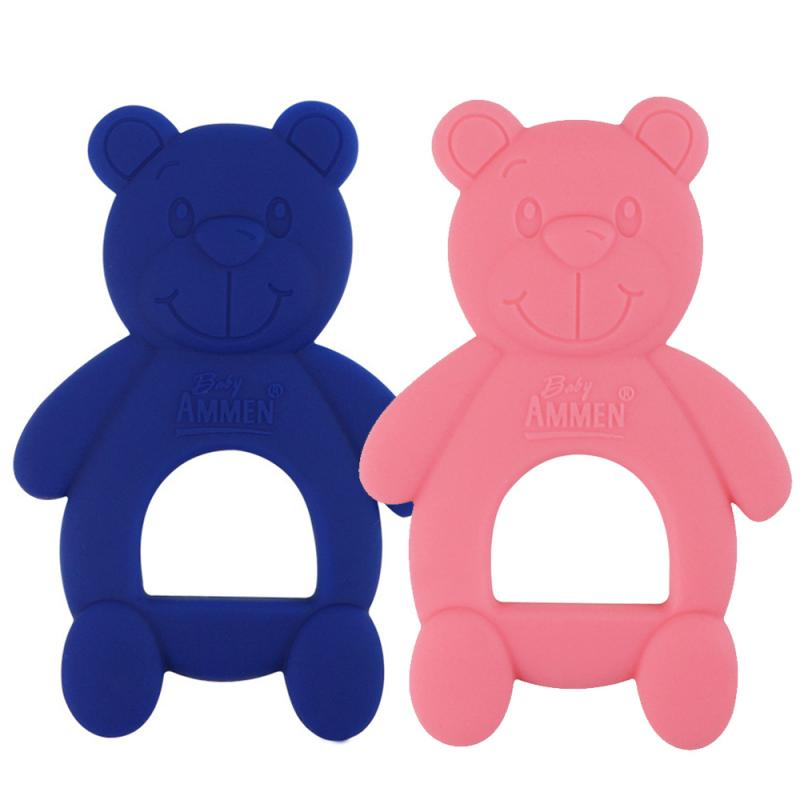 Baby Teether Silicone Cute Bear Molar Stick