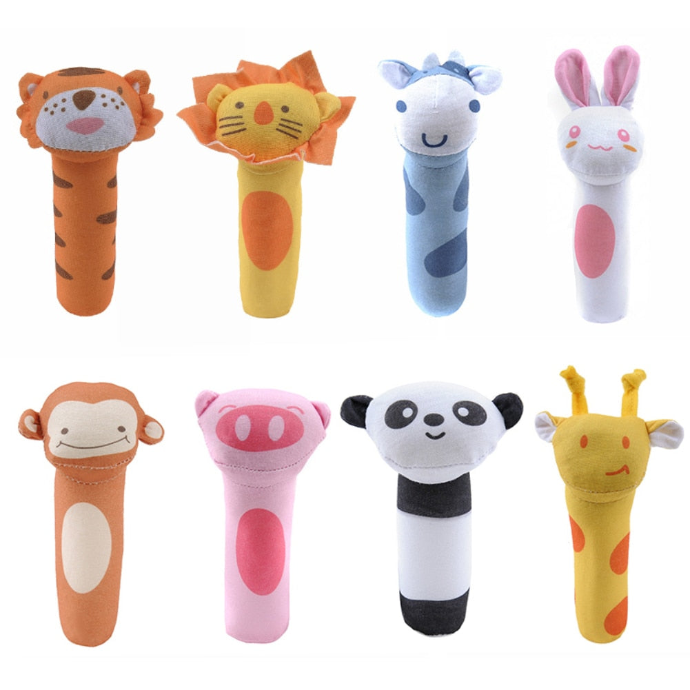 Baby Plush Rattle Baby Hand Grip Rod Educational Toys Rattle