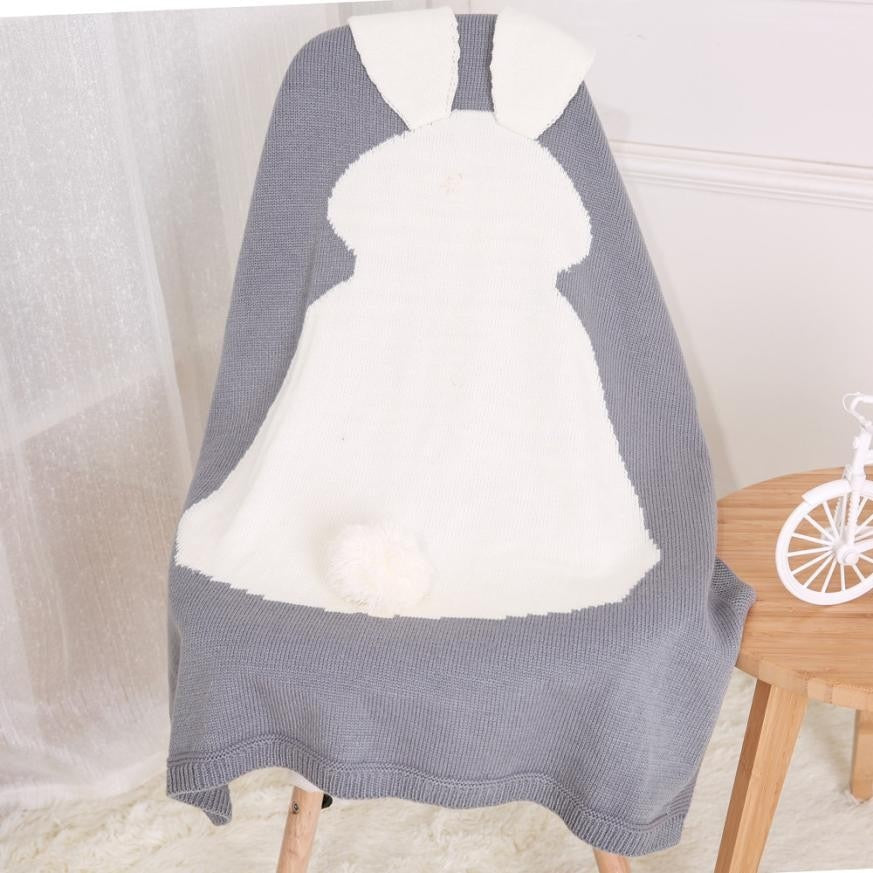 Baby Rabbit Knitting Blanket