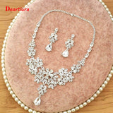 Heart Shape Bridal Crystal Rhinestone Jewelry Set