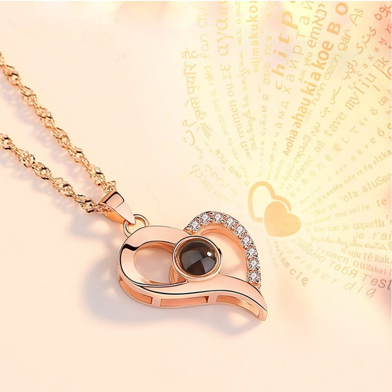 I love you Projection Pendants Necklaces