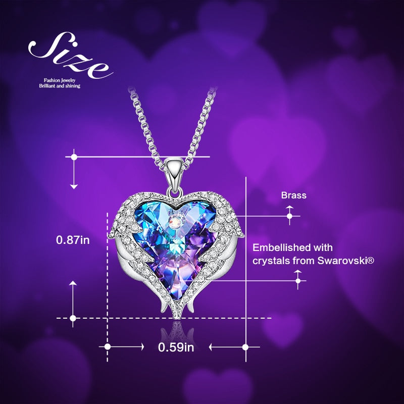 Heart Shape Pendant Necklace with Crystal Valentine's Day Gifts
