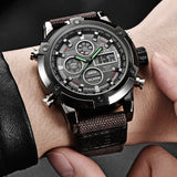 Men Dual Display Nylon Band Watch High Quality Movement Men Sports Watch