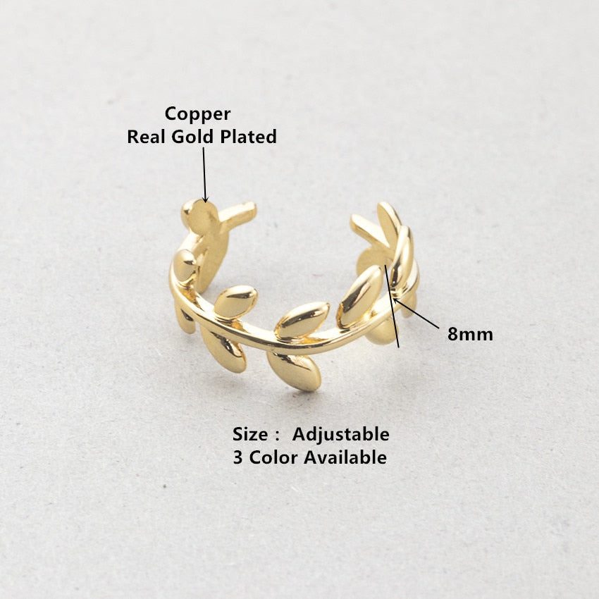 Cute Laurel Wreath Wedding Rings For Women