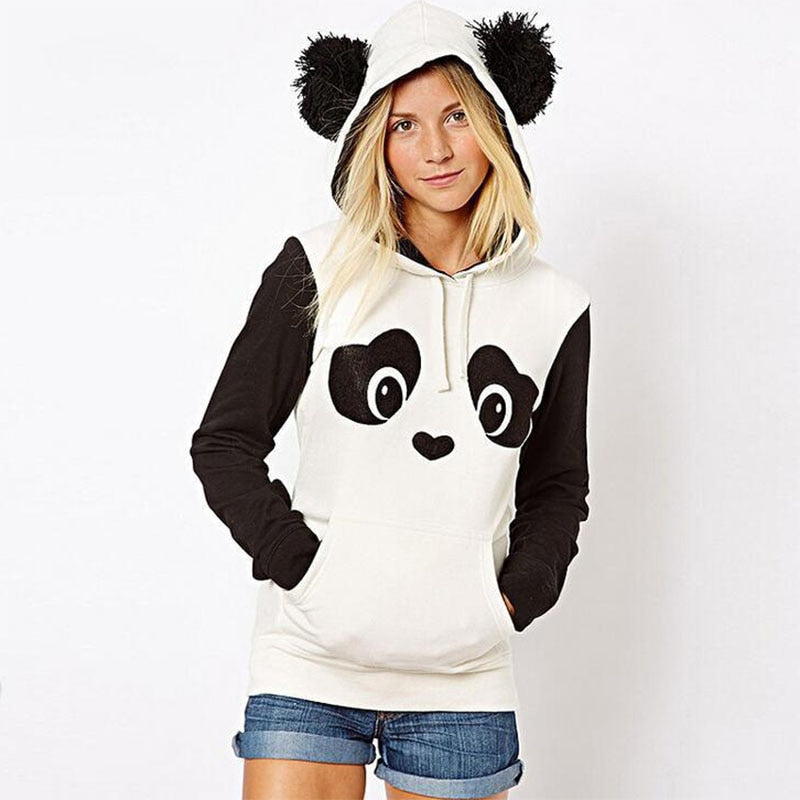 Female Lovely Panda Print Sweatshirts