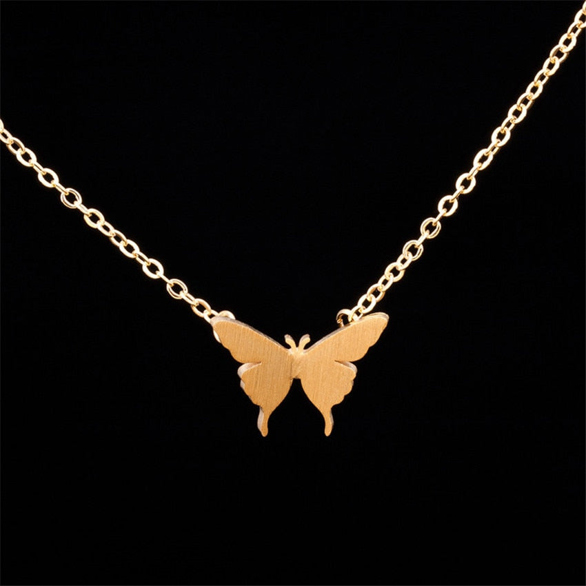 Dainty Butterfly Charm Necklaces For Women