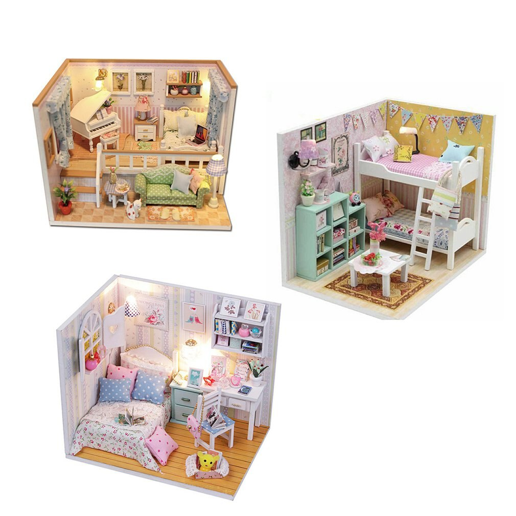 Assembled Building Blocks Mini Scene Home Furnishings Toys