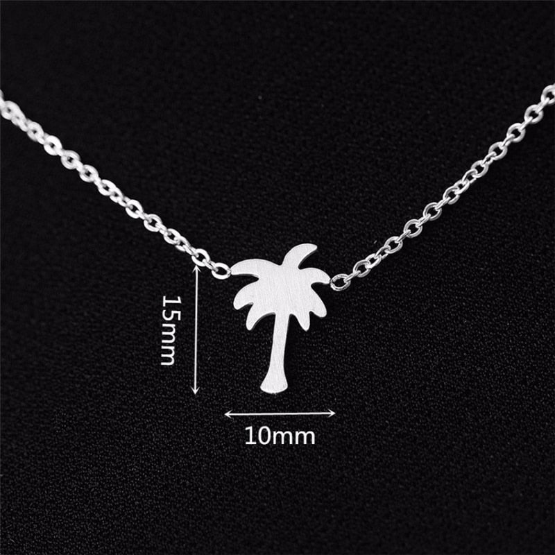 Palm Tree Necklace for Women