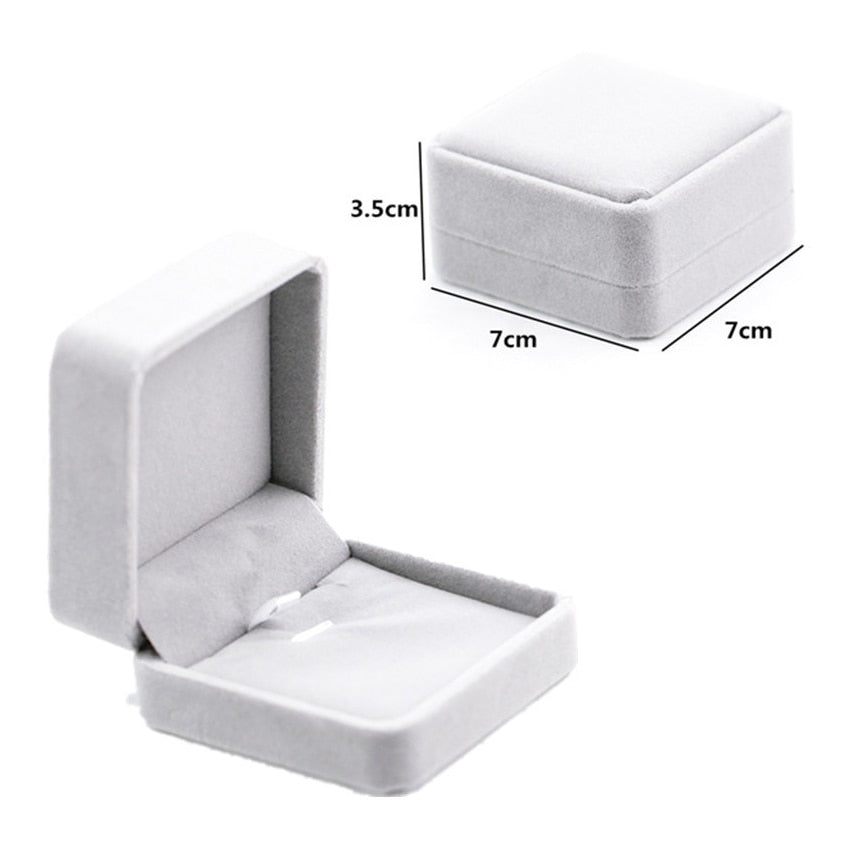Suede Velvet Ring Earring Necklace Display Packaging Box