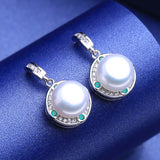 Green Crystal Boho Necklace Natural Freshwater Pearl jewelry sets