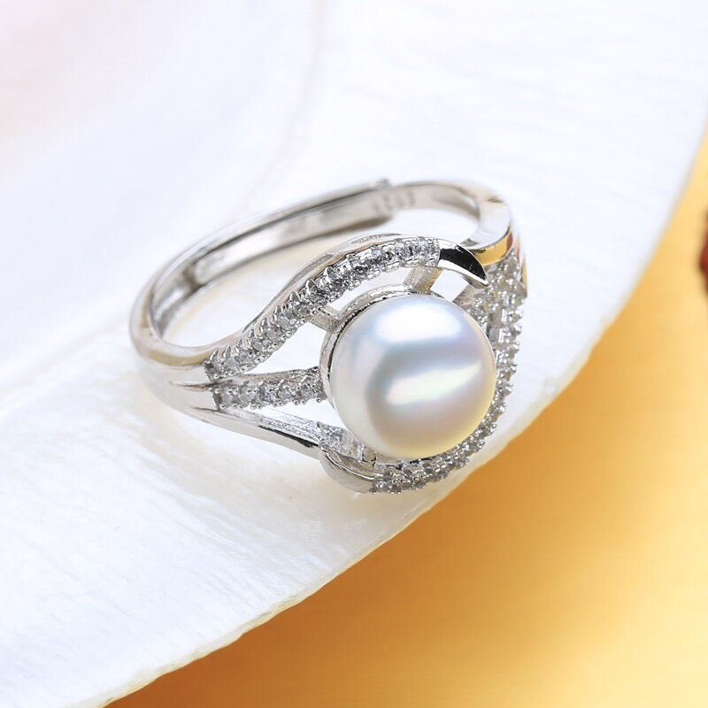 Natural Freshwater Pearl Rings For Women