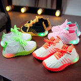 Baby Girls Boys Candy Color LED Luminous Sport Run Sneakers Shoes