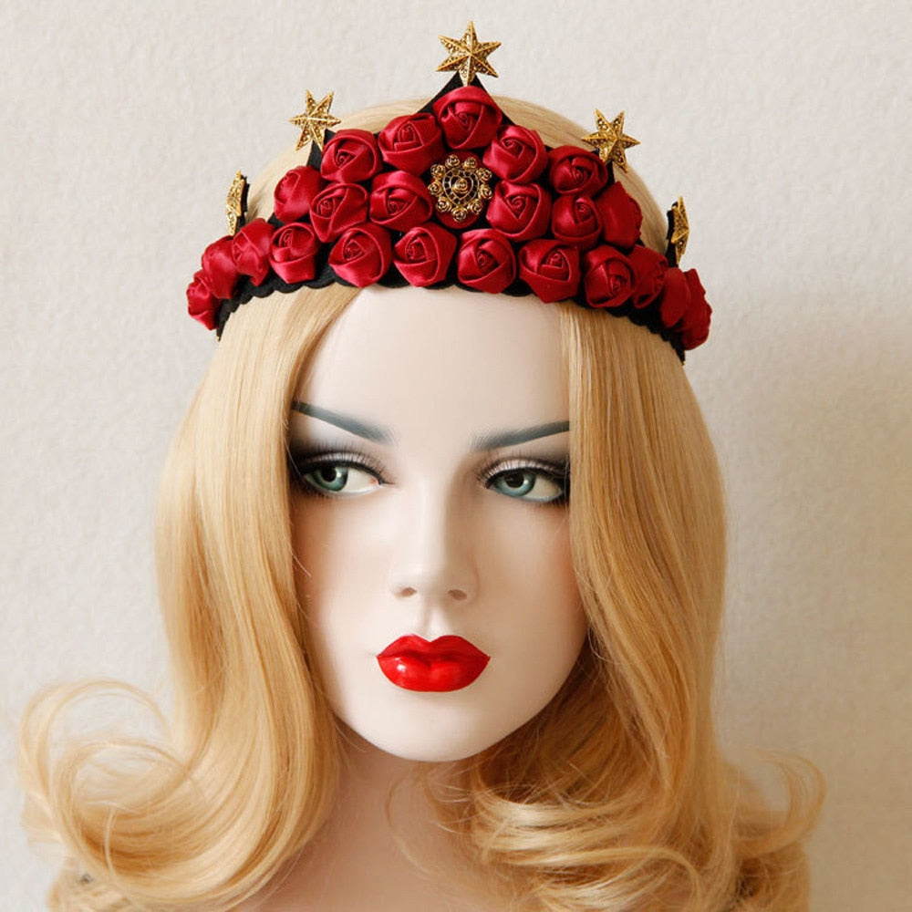 Rose Queen Crown Hair Band