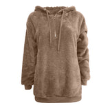 Fluffy Wool Pocket Cotton Loose Casual teddy  Sweatshirt