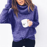 Women's Solid Long Sleeves Women's Knitted Sweater