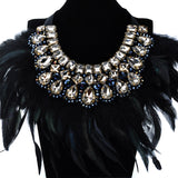 Luxury Fashion Feather Shiny Crystal Pendant