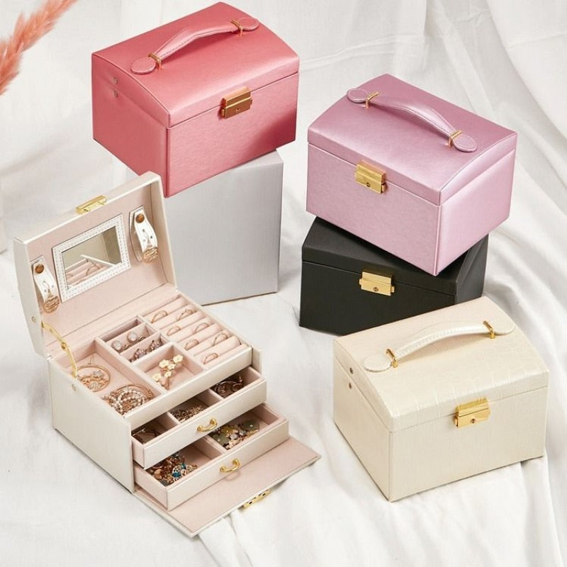 High Capacity Jewelry Casket Makeup Storage Makeup Organizer