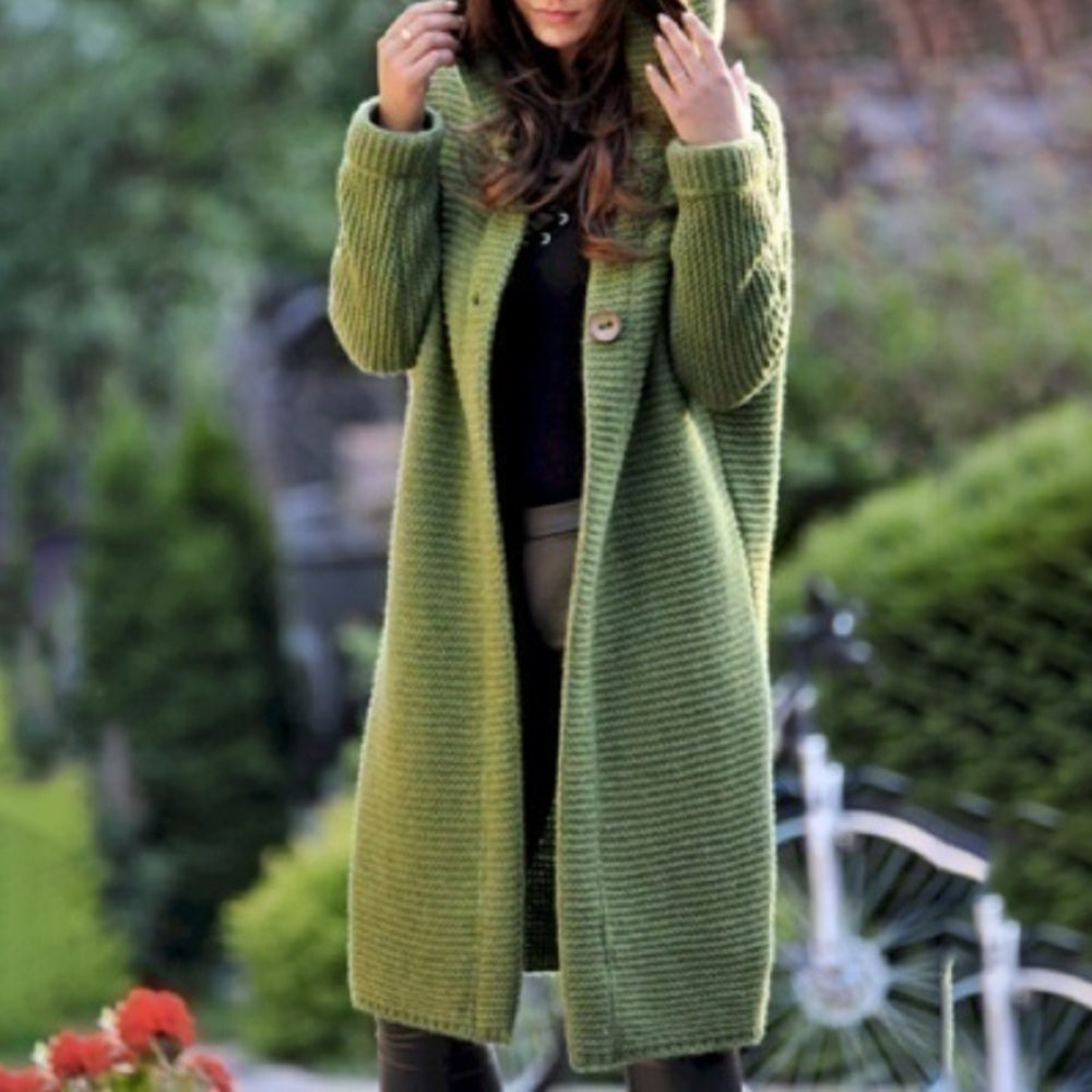 Long Sleeve Knit Sweater Blends Coat