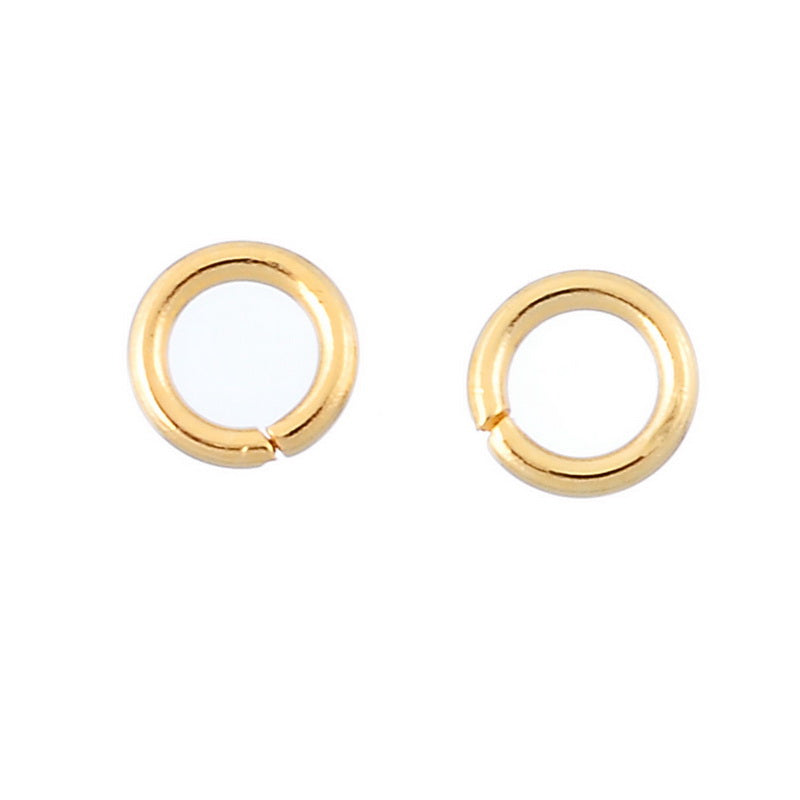 30PCs Gold Plated 4/5/6mm Stainless Steel Open Jump Rings