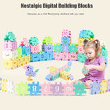 Large Retro Geometric Digital Building Blocks