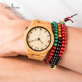 Logo Custmized BOBO BIRD Natural Bamboo Wooden Watch