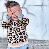 Long Sleeve Baby Girl Boy Bunny Leopard Print Sweatshirt