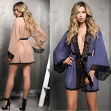 Mesh Large Size Women's Lace Robe  Home Wearing