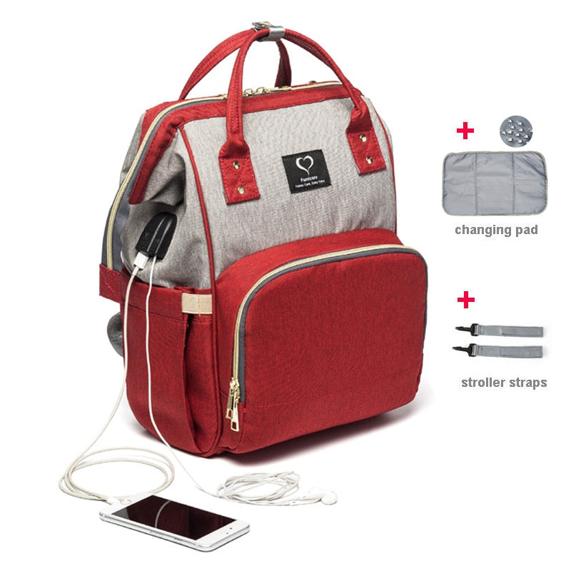 Mommy diaper bag baby travel backpack