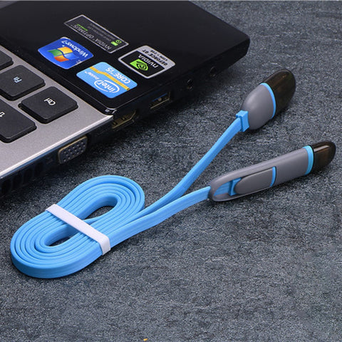 Multi color data line 2 in 1Fast Charging Cable multi function data line
